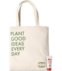 receive a free tote bag + vitazing spf 15 energy boosting moisturizer with $65 origins purchase