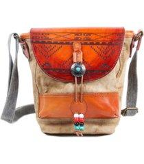 tsd brand boho-echo canvas crossbody bag