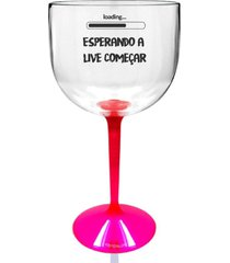 2 taã§as gin transparente com base rosa personalizada para live - incolor - dafiti
