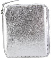comme des garçons wallet comme des garcons wallet metallic zip-around leather wallet