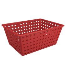 cesta one maxi 39 x 30 x 16,8 cm vermelho bold coza vermelho