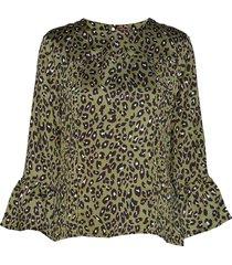 abigail leo blouse lange mouwen groen line of oslo