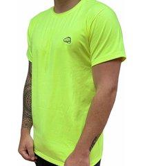 camiseta básica small logo amarillo neón fist hombre