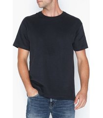 premium by jack & jones jprnight bla. tee ss crew neck t-shirts & linnen mörk blå