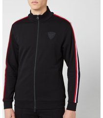 rossignol men's track suit sweat zip sweat - black - xl