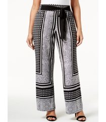 i.n.c. plus size tie-waist palazzo pants, created for macy's