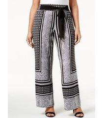 inc plus size tie-waist palazzo pants, created for macy's