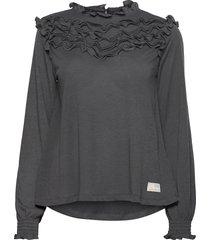 malou top blouse lange mouwen zwart odd molly