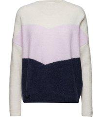 herle knit stickad tröja multi/mönstrad just female
