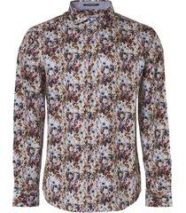 no excess shirt, l/sl, allover digital printe offwhite