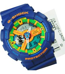 reloj casio g-shock ga-110fc-2a para caballero multicolor