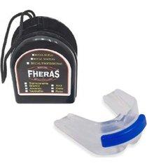 protetor bucal anti bruxismo duplo silicone c/ furo de respiração