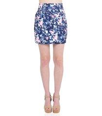 falda corta casual azul marino aishop