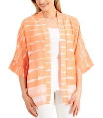 jm collection printed sheer jacket, created for macy's