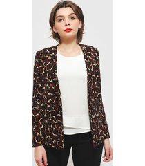 blazer ash multicolor - calce ajustado