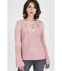 sweter kylie swe 117 pudrowy roz