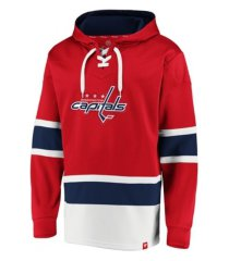 majestic washington capitals men's power play lace up hoodie