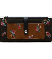 rectangular paisley wallet - green - u