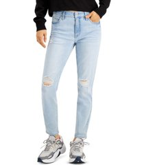 celebrity pink juniors' distressed mid-rise skinny ankle jeans