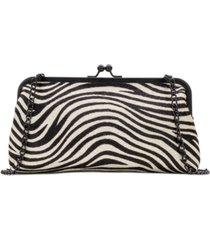 patricia nash zebra haircalf potenaz frame clutch