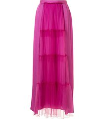 undercover tiered full length skirt - purple