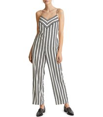bar striped jumpsuit