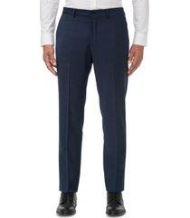 armani exchange men's modern-fit navy birdseye suit separate pants