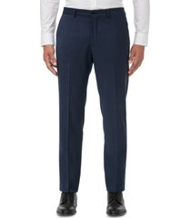 armani exchange men's slim-fit navy birdseye suit separate pants