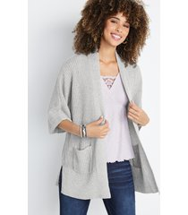 maurices womens gray oversized cardigan
