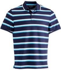 club room men's multi-stripe sport polo shirt, created for macy's