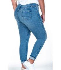 jean skinny plus size con rotos