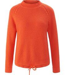 trui van 100% katoen met staande kraag van looxent oranje