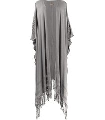 caravana draped cardi-coat - grey