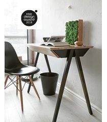 dębowe biurko vogel s czarne
