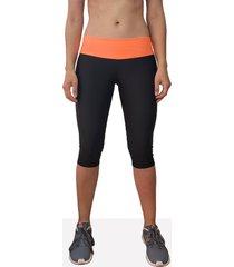 leggings corto deportivo mujer tykhe pandora negro