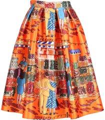 alessandro enriquez vegan love polyester skirt