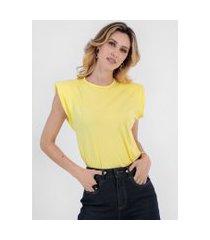 t-shirt bl0001 muscle tee com ombreira traymon amarelo claro
