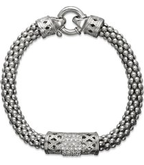 diamond barrel bracelet in sterling silver (1/4 ct. t.w.)