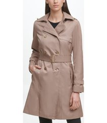 cole haan classic women's cotton trench coat
