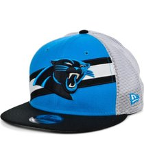 new era carolina panthers diagonal trucker 9fifty cap