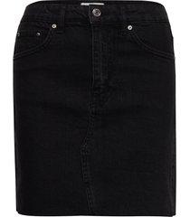 vintage denim skirt kort kjol svart gina tricot