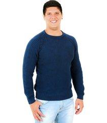 blusa officina do tricô monte negro azul