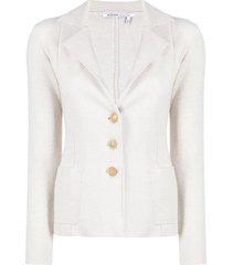 agnona cashmere-blend blazer - neutrals