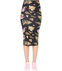 versace jeans couture midi skirt