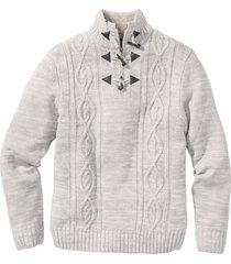 pullover a trecce (grigio) - bpc bonprix collection