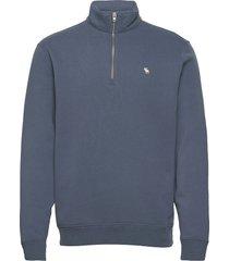 anf mens sweatshirts sweat-shirt tröja blå abercrombie & fitch