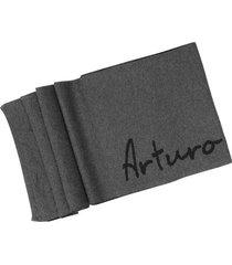 bufanda tejida con diseño de logo en algodón para hombre 05221