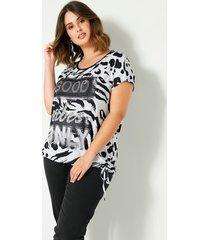 shirt sara lindholm offwhite::zwart