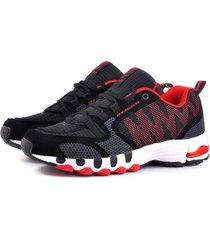 sneakers sportivi in mesh con lacci