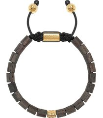 nialaya jewelry adjustable wood beaded bracelet - black